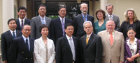 Three of the four Chinese universities sent a delegation to CSU last year. They are pictured here with CSU V-C Professor Ian Goulter (front third from right)