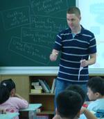 Mr Donald Joyce in the classroom