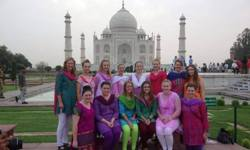 CSU nursing students at the Taj Mahal