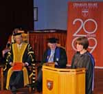 Deputy Vice-Chancellor (Administration) Professor Lyn Gorman launching the 20th anniversary celebrations at CSU in 2009.