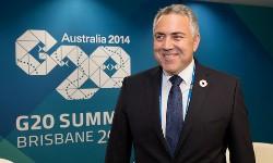 Photo Australian Treasurer The Hon Joe Hockey ahead of the G20. G20 Australia