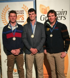 Three crop winners