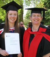 CSU graduate Ms Lucy Holbrook and Dr Cate Thomas