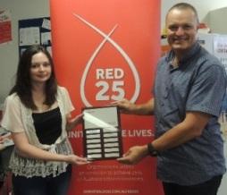 Port M blood donation 2014 win plaque