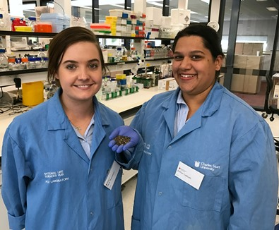 CSU PhD students Kiara Thompson and Esther Callcott