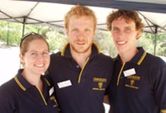 2009 residential advisers in Albury-Wodonga (l-r) Ms Sarah Clouten, Mr Andrew Mangan and Mr Martin Hill.