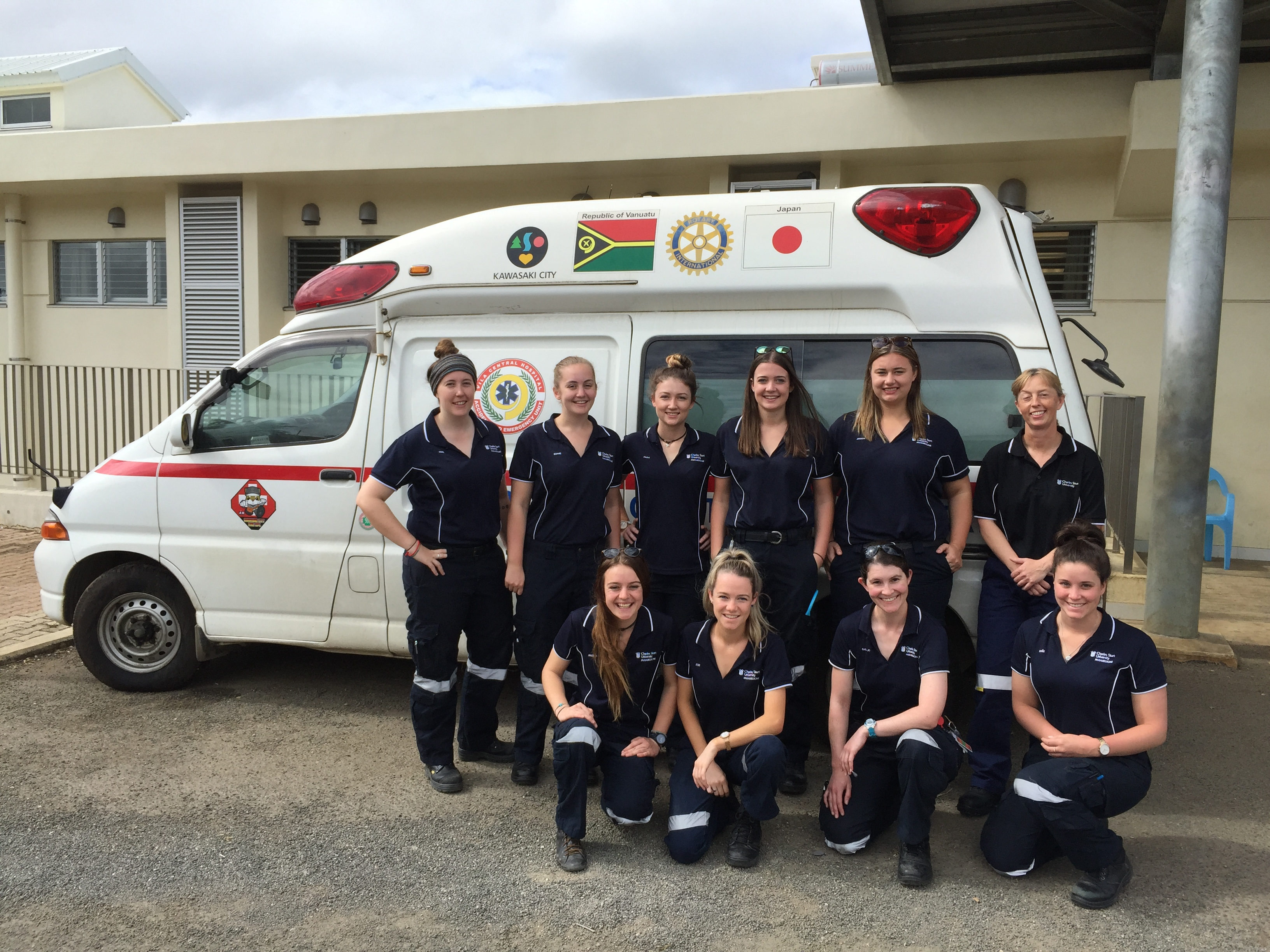 CSU paramedic students in Vanuatu