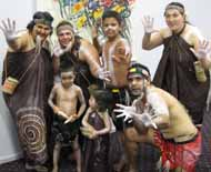 Members of the group, Maliyaa who performed at Nguluway at CSU in Wagga Wagga.