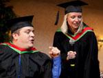 CSU 2011 graduates Mr Chad Pilon and Ms Sarah Nykoruk.
