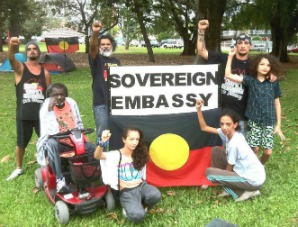 Tent embassy sovereign protesters