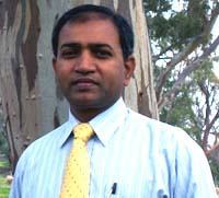 Professor Manohar Pawar of the CSU School of Humanities and Social Sciences.
