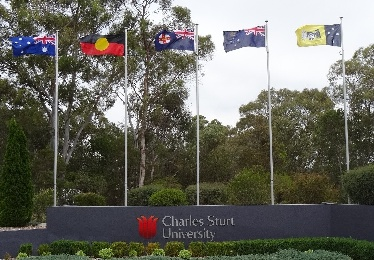 Flags CSU Bathurst gateway