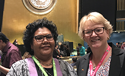 Annette Gainsford with HR Commissioner