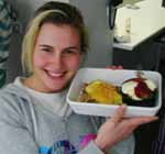 Winner of the CSU student cooking challenge, nutrition and dietetics student Ms Georgie Lucas.