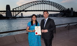 Saba Nabi at 2014 NSW International Student Awards.