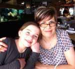 Ms Andrea Topic and her daughter Lauren.
