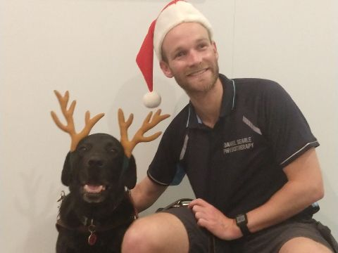 Dan with his guide dog Frodo