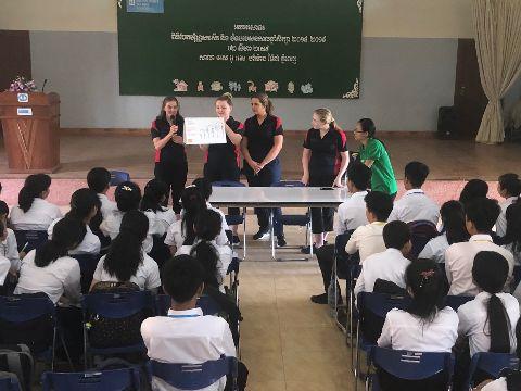 Charles Sturt students in Cambodia
