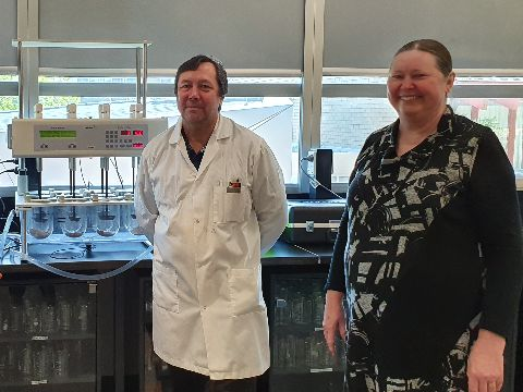 Pharmacy academics Dr Christopher Parkinson andAssociate Professor Maree Donna Simpson